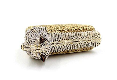 WYB Europa Puppy Diamant Abendtasche / hochwertigen Diamant Kupplung / Abendbeutel / Brautjungfer Tasche Gold