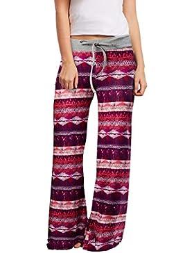 Loveternal Mujeres Harem Pantalones Impresión Boho Yoga Cintura de Cordón Pantalón S-XL