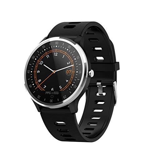 iCerber Smartwatch Wasserdicht IP67 Smart Watch Uhr mit Pulsmesser Fitness Tracker Sport Uhr mit Schrittzähler,Schlaf-Monitor,Stoppuhr,Call SMS Benachrichtigung Push kompatibel für Android und iOS