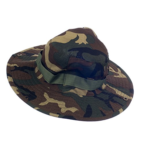 Imported Mens Camo Military Boonie Cap Sun Bucket Brim Army Fishing Hiking Hat #5  available at amazon for Rs.540