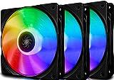 DeepCool CF120 Ventole RGB Addressable 120mm, PWM Ventola RGB Flusso Silenzioso ad Alte Prestazioni(3 in 1), Controllabile da Software della Scheda Madre, 5V 3pin ADD RGB (3P Set)