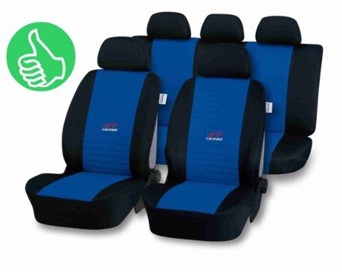 Universal Sitzbezug GT-TURBO blau für Fabia, , Roomster, Superb, Yeti