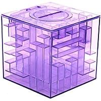 Preisvergleich für Queenbox Geld-Labyrinth, Puzzle-Labyrinth-Bank,Bargeld Aufbewahrungsbox Münzbank Geschenk für Kinder und Kinder (Lila)