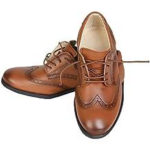 Flamingo Ata para Arriba Brogues Formal Zapatos de Comunión de Boda de  Oxford para Niños a8b8e831986