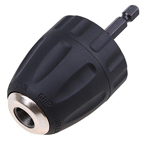 WCIC 0.8–10 mm Schnellspannbohrfutter Conversion Werkzeug 3/8-24UNF Sechskantschaft Zubehör für Elektrowerkzeuge Bohr-Zubehör Bohrfutter Quick Change Adapter Konverter