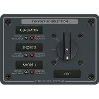 Blue Sea Systems AC - Panel de interruptor giratorio (30 Amperes, 3 posiciones + OFF, 2 polos)