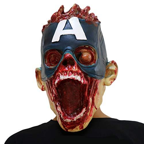Kostüm Eigene Ihre Zombie Sie Machen - NightGhost Zombie Maske, Halloween Horror Dead Walker Maske, Gruseliges Kostüm Spielt Maskerade Maske, Horror Cosplay Latex Maske