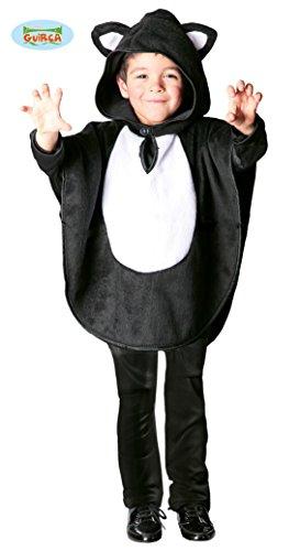 Katze Kostüm Cape für Kinder Gr. 98 - 116, (Kinder Katze Kostüme)