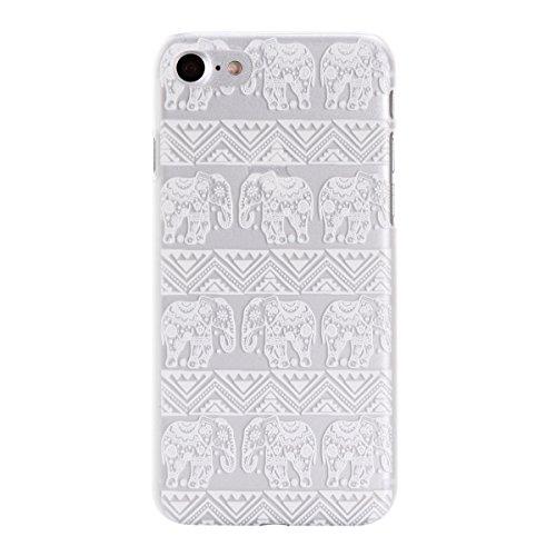 """MOONCASE iPhone 7 Plus Coque, Premium Durable Ultra-Mince Transparente Housse Étui de Protection avec Motif Blanc [Anti-rayures] Case Cover pour iPhone 7 Plus 5.5"""" - Clear 04 Clear 04"""