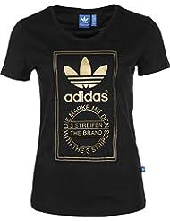 adidas LE Gold Tee - Camiseta para mujer, color negro, talla 32