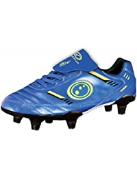 Optimum Tribal Football Rugby Boots 6 Stud Lace Up Sports Trainers Blue/Green