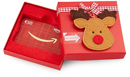 tschein in Geschenkbox - 50 EUR (Rentier) (Rentier Ornament)