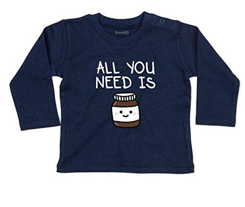 You Need Chocolate Spread Baby T-Shirt Lang Arm - Marine Blau 12-18 Monat (Fitted T-shirt Baby-womens)
