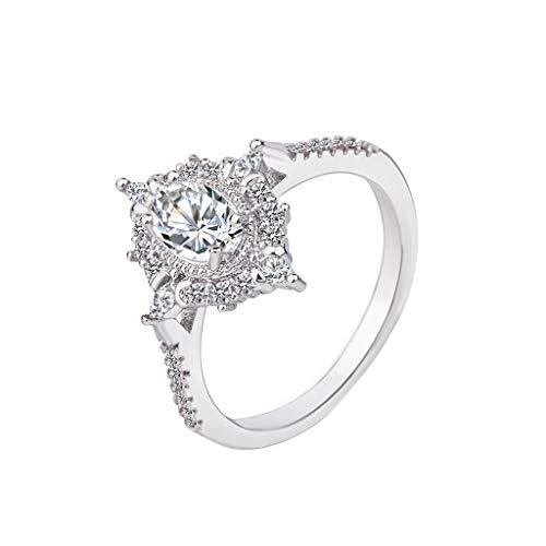 Floweworld Einfache Diamant Ring Damen Schmuck Damen Mode Platin Boutique Ring Horse Eye Zirkon Ring...