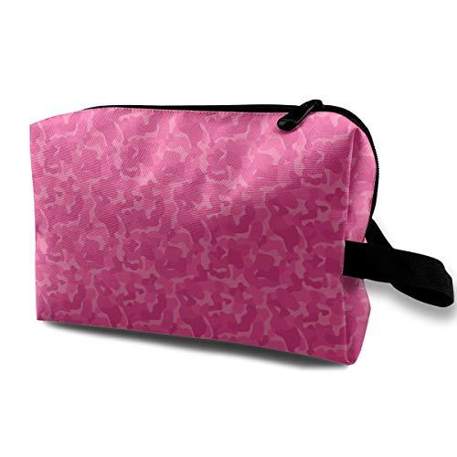Pink Art Coverage taktische Make-up Tasche Kulturbeutel Travel Cosmetic Portable Pouch Bürsten Tasche -
