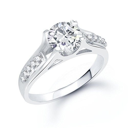 V. K. Jewels Jewels Glistening Silver Brass Alloy Cz American Diamond Ring For Women Vkfr1060R8