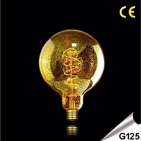 OOFAY LIGHT® Retro Edison Wolfram Glühbirne Birne Dimmable E27 G125 Retro Bernstein Persönlichkeit Glühbirne 220-240 Klasse Energie A + + , 40w