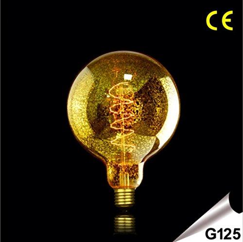 OOFAY LUZ Retro Edison filamento de tungsteno bombilla regulable E27G125retro ámbar personalidad bombilla 220–240clase energética A + +, vidrio, 40w, E27 40.0 wattsW 220.0 voltsV