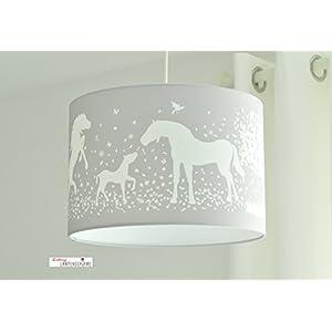 Lampenschirm - Pferde Grau - 35cm