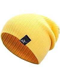YUnnuopromi Berretto Unisex Cappello Invernale Cappelli di Colore Solido  Elastico Berretto Lavorato a Maglia per attività 83c212062bef