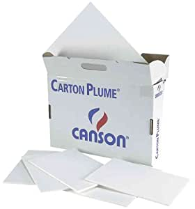 "Carton plume ""Classic"" 500 x 650 mm Blanc 5 mm Lot de 20"