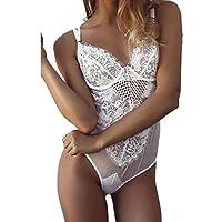 JYC Panties Sexy Lace Underwear,Ropa Interior Mujer Sexy Conjuntos,Moda Mujer Sexy Cordón Lencería Escotado por detrás Mono Culo Fuera Bodysuit Ropa Interior