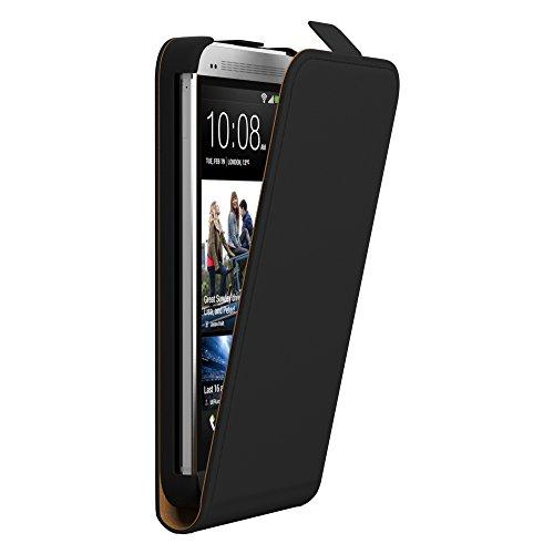 HTC Desire 816 Hülle Flip Cover zum Aufklappen I von EAZY CASE I Handyhülle aufklappbar, Schutzhülle, Flipcover, Flipcase, Flipstyle Case vertikal klappbar, aus Kunstleder, Schwarz Htc Desire 816 Cover