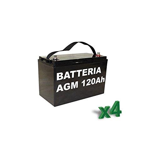 Luminor-Batterie 120Ah 12V AGM Lotto 4Stück Photovoltaik Elektrofahrzeuge-lum120-12x 4