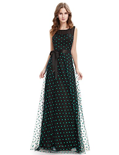 Ever Pretty Robe de Cocktail Robe de Soiree Maxi Vintage a Pois 08753 Vert