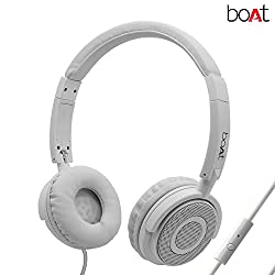 boAt BassHeads 900 Wired Headphones with Mic (White)