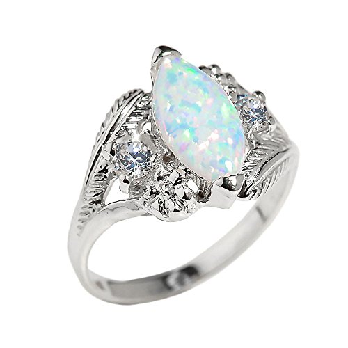 little-treasures-10ct-white-gold-marquise-opal-gemstone-ring