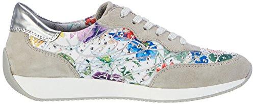 ara Damen Lissabon Sneaker Grau (Kiesel,multi/silber)