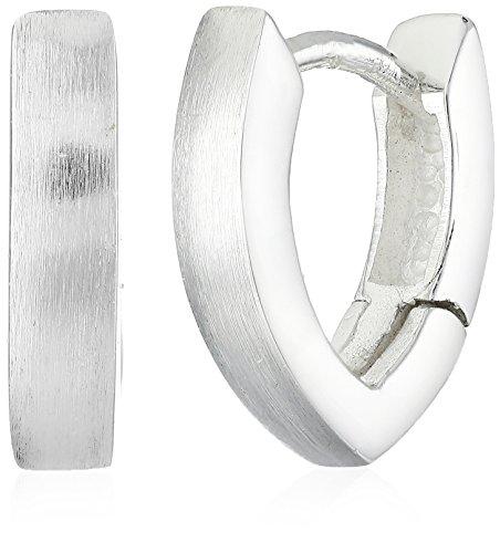 VINANI Damen Klapp-Creolen Modern Angel Silber 925 CMA