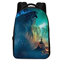 A&C Hero Godzilla Backpack,Godzilla King of The Monsters Backpack School Bags for Student Men Women - Blue - One Size