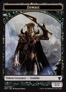magic-the-gathering-zombie-token-pedina-zombi-dragons-of-tarkir