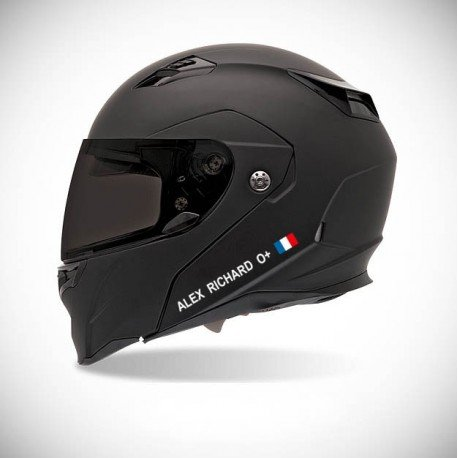 Identifikationsaufkleber für Motorrad-Helm - farbiger Sticker