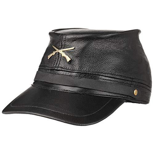 Hutshopping Civil War Hat Black Staatenmütze Ledermütze Kappe (One Size - schwarz) (Herren Bürgerkrieg Kostüm)