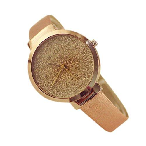 Preisvergleich Produktbild Uhr Damen Uhren DAY.LIN Frau Mädchen Luxus Sand Sternenklar einfache Temperament Quarzuhr (Khaki)