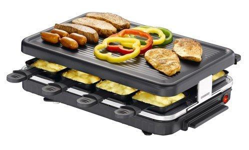 Melissa 16300014 Raclette Grill (Tischgrill für 8 Personen, 1200 Watt)
