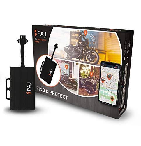 PAJ Motorcycle Finder - Motorrad-GPS - Peilsender/Diebstahlschutz Auch Für Das Ausland - Direktanschluss KFZ-Batterie 9-75 V - Inkl. Gratis App Für IOs und Android - Version ONLINE-Ortung