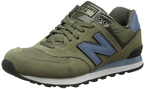New Balance 574, Scarpe Running Uomo, Multicolore (Green/Blue 344), 42.5 EU