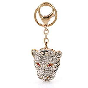 3D Luxurious Exquisite Tigger Key ring Keyring Handbag Charm CZ Austrian Crystals Fashion Accesory
