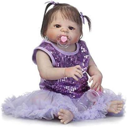 Lsrryd 56 CM Poupées Reborn Nouveau Née Bébés Réaliste Fille pour Plein De Colle Simulation Jouets pour  s pour Fille Cadeau d'anniversaire (Couleur : Blue Eye) B07LGN19DM 0b1136
