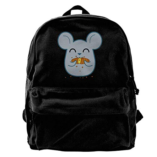 Rucksäcke, Daypacks,Taschen, Classic Canvas Backpack Greedy Mouse Unique Print Style,Fits 14 Inch Laptop,Durable,Black -