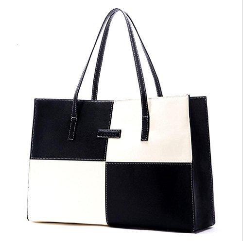 GBT Neue Dame-Beutel-Tendenz-Schulter-Beutel-Handtasche black and white grid pattern