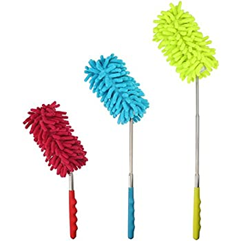 Bendable Microfiber Duster Dusting Brush With Extendable
