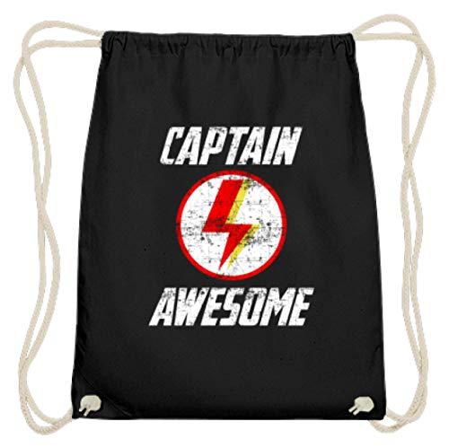 Captain Awesome - Blitz Superheld Hero Motiv - Schlichtes Und Witziges Design - Baumwoll Gymsac