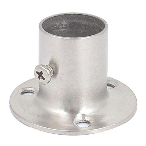 Edelstahl-Traeger Basis - TOOGOO(R) Kleiderschrank 19mm Dia Rohr Kleiderstange Flansch Unterstuetzung Halterung (Rohr-flansch-tool)