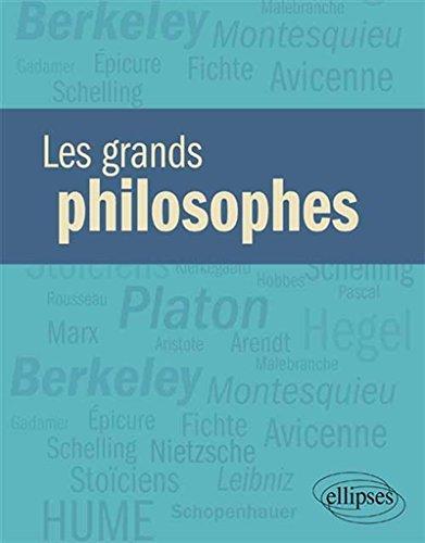 Les grands philosophes par Jean-Pierre Zarader, Collectif