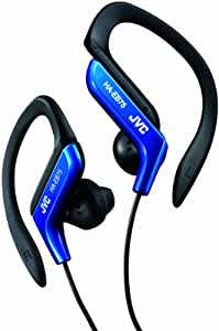 JVC HA-EB75 In-Ear Sweat Resistant Sports Headphones with Adjustable Clip - Blue